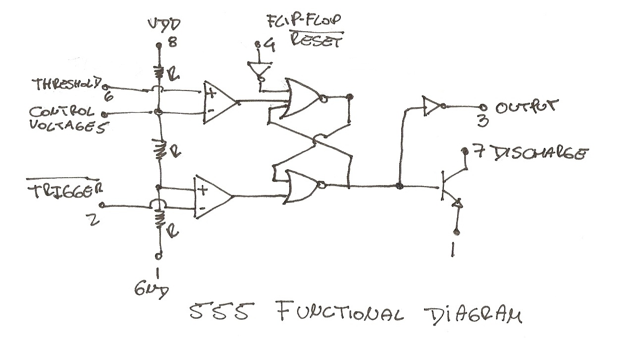 555 Logic Diagram Wiring Library Three Led Flasher By 3 Transistor Astable Multivibrator You